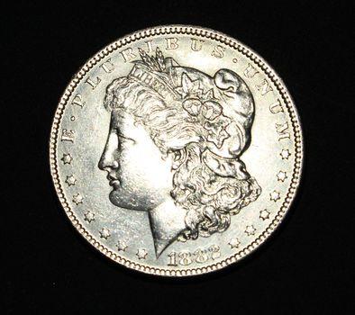 1882 P Morgan Silver Dollar AU