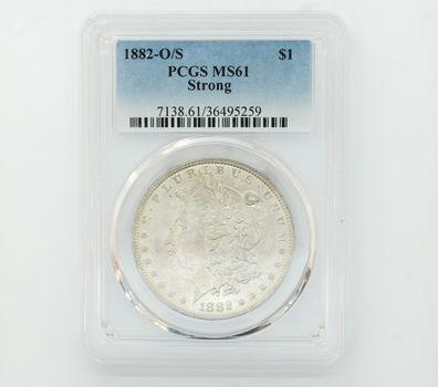 1882-O/S Morgan Silver Dollar PCGS MS61 Strong (259)