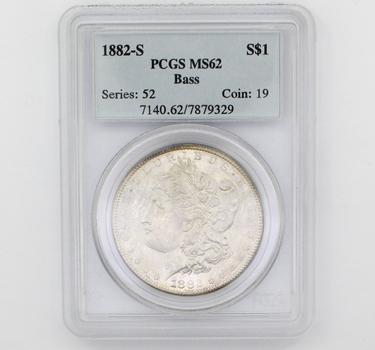 1882-S Morgan Silver $1 MS62 Bass PCGS (329)