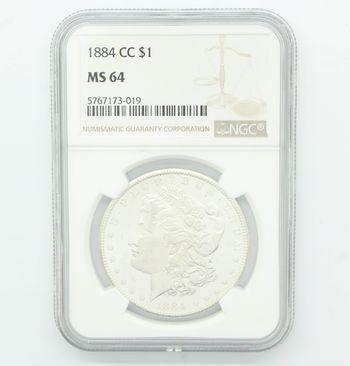 1884 Carson City Morgan Silver Dollar NGC MS 64 Choice Uncirculated