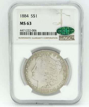 1884 Morgan Silver Dollar NGC MS63