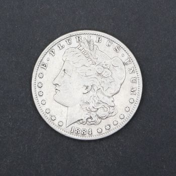 1884-P Morgan Silver Dollar VG E
