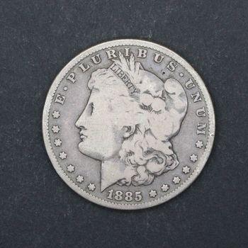 1885-P Morgan Silver Dollar VG+ E
