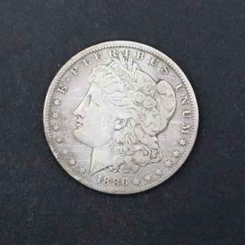 1886-O Morgan Silver Dollar VG+ A