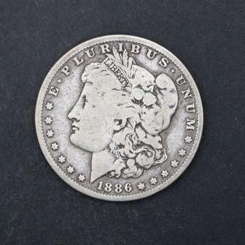 1886-O Morgan Silver Dollar VG+ D