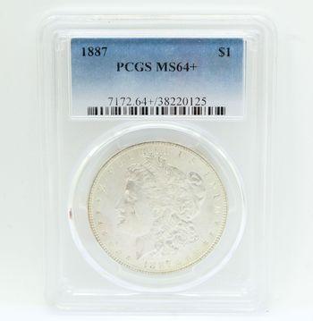 1887 Morgan Silver Dollar PCGS MS64+