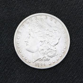1889-O Morgan Silver Dollar VF+