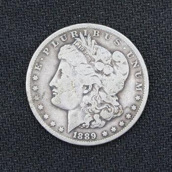 1889-O Morgan Silver Dollar VG A