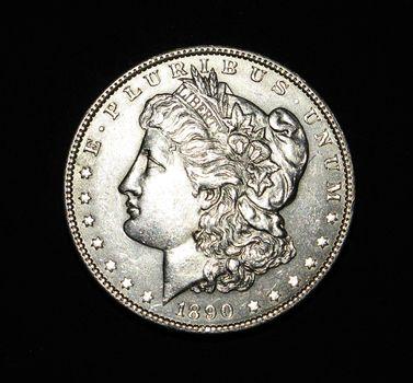 1890 P Morgan Silver Dollar AU