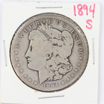 1894-S Morgan Silver Dollar (65a)