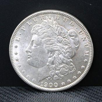 1900 Morgan Silver Dollar BU