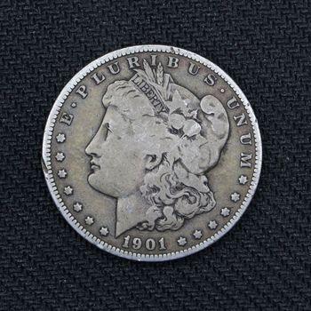 1901-O Morgan Silver Dollar VG + (B)