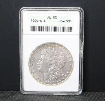 1904-S $1 Morgan ANACS AU53