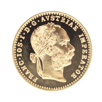 1915 Gold 1 Ducat Proof Austrian Coin 3.49g