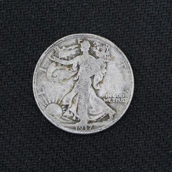 1917 Walking Liberty Half Dollar Good - 2nd Year of Issue (m)