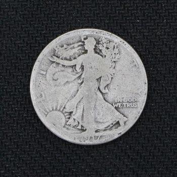 1917-S Walking Liberty Half Dollar Good - Reverse Mint Mark - 2nd Year of Issue (j)