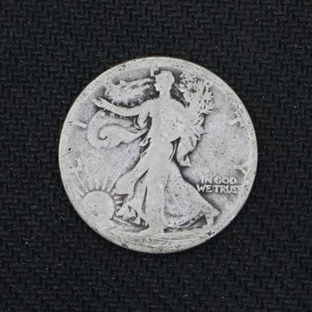 1917-S Walking Liberty Half Dollar Good - Reverse Mint Mark - 2nd Year of Issue (L)