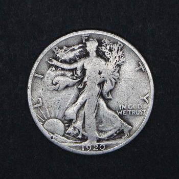 1920 Walking Liberty Half Dollar Heavily Circulated