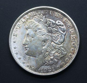 1921 Circulated Morgan Silver Dollar