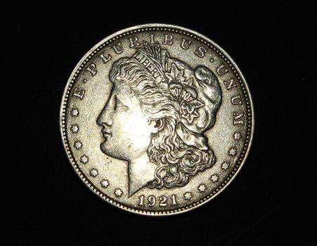 1921 Morgan Silver Dollar XF Plus