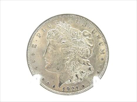 1921 Silver Morgan Dollar AU (400