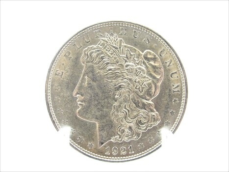 1921 Silver Morgan Dollar AU (401