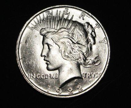 1922 BU Silver Peace Dollar