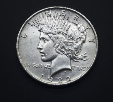 1922 Fine Plus Silver Peace Dollar