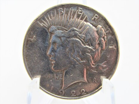 1922 Silver Peace Dollar  (095)