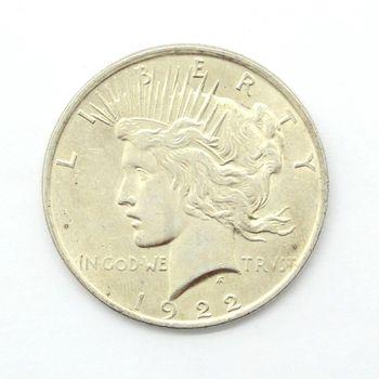 1922 Silver Peace Dollar Fine+