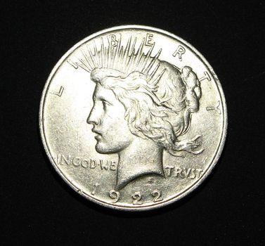 1922 VG Plus Silver Peace Dollar
