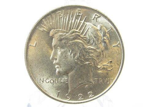 1922-P SILVER Peace Dollar AU (14)