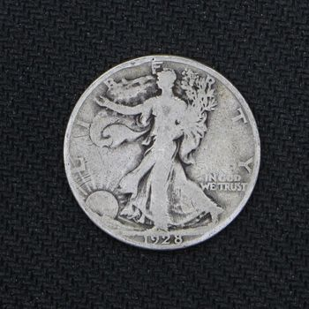 1928-S Walking Liberty Silver Half Dollar VG+ (b)