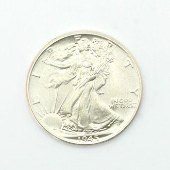 1945 Walking Liberty Half Dollar BU
