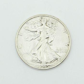 1945 Walking Liberty Half Dollar VF