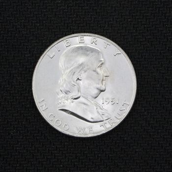 1951-D Franklin Silver Half Dollar BU