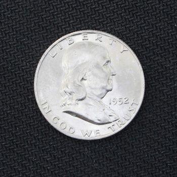 1952-D Franklin Silver Half Dollar BU