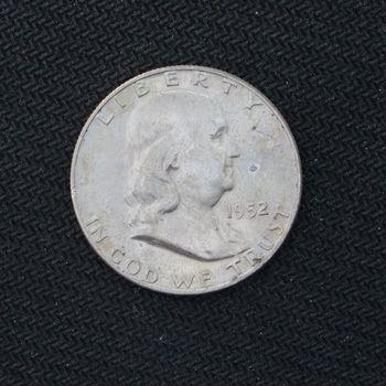 1952-D Franklin Silver Half Dollar BU (a)