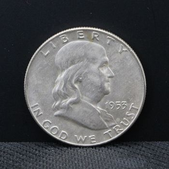 1953-D BU Franklin Half Dollar