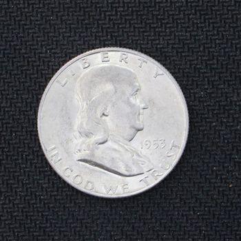 1953-D Franklin Silver Half Dollar BU