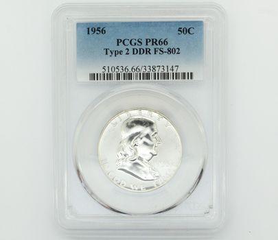 1956 Franklin Silver Half Dollar PCGS PR66 Type 2 DDR FS-802 (147)