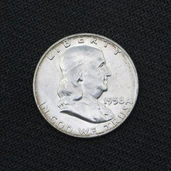 1958-D Franklin Silver Half Dollar BU (f)