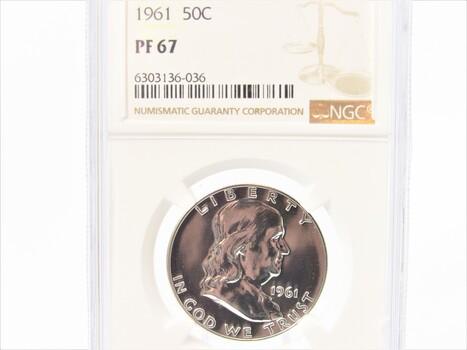1961 Franklin Half Dollar PF 67 NGC