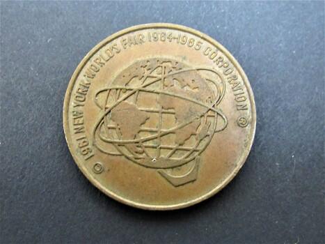 1961 New York Worlds Fair Token Coin Long Island Railroad