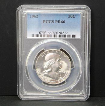 1962 Franklin Half Dollar PCGS PR66