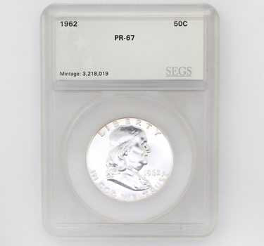 1962 Franklin Silver 50c Proof PR-67 SEGS (011)