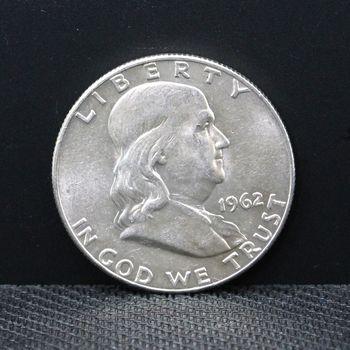 1962-D AU+ Half Dollar