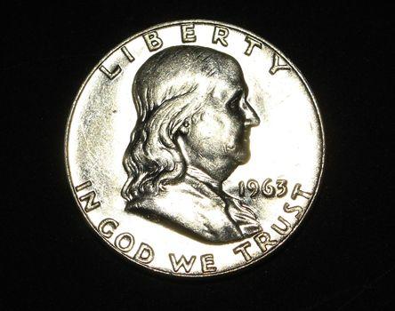 1963 D AU Silver Franklin Half Dollar