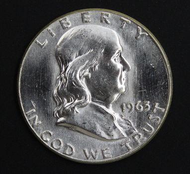 1963-P BU Franklin 90% Silver Half Dollar Final Year