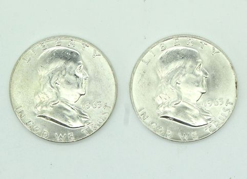 1963-P&D BU Silver Franklin Half Dollars, Lot of 2